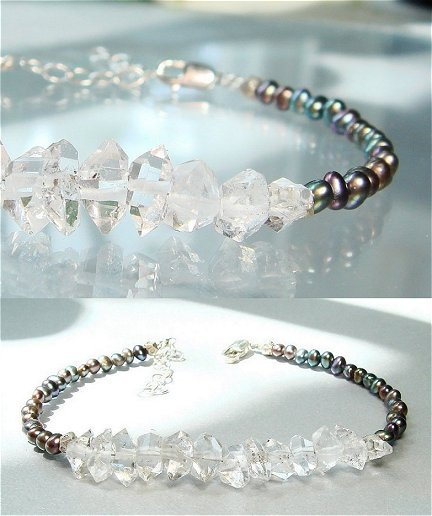 Herkimer Diamond Bracelet April Birthstone