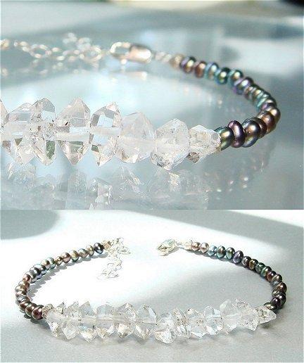 Herkimer Diamond Bracelet April Birthstone