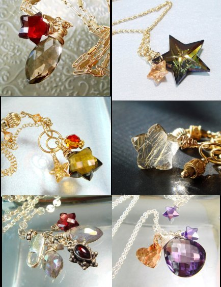 Gemstone-star-jewelry-star-necklace