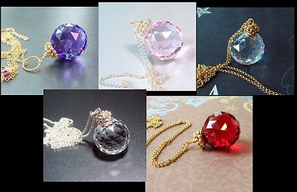 Swarovski crystal ball necklace prism necklace suncatcher necklace sun catcher pendant magick jewelry