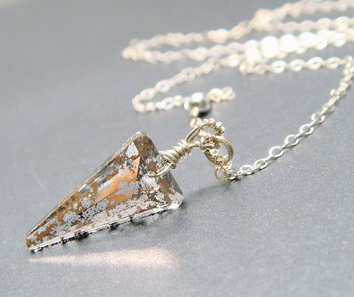 Swarovski Dagger Rose Gold Patina Necklace