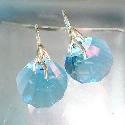 Seashell Crystal Earrings